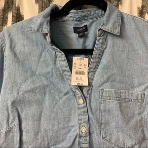 J crew denim shirt. Size small. New with tags